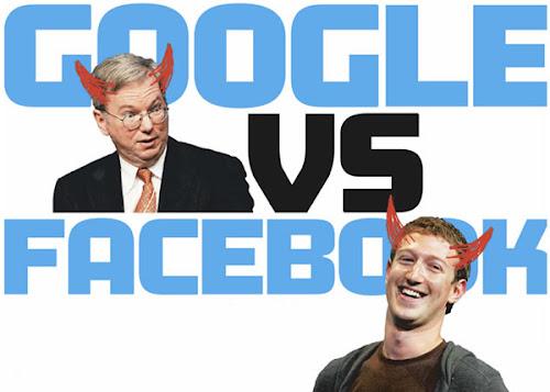 google vs facebook quem vence