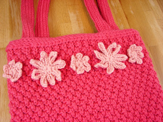 finishing, knitting, purse, sew, yarn, pink, design, crochet, flowers