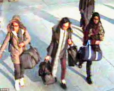 ISIS hunt for 3 British teenage Jihadi brides on the run from their terrorist husbands