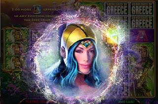 Blue-haired goddess from Goddesses of Greece game
