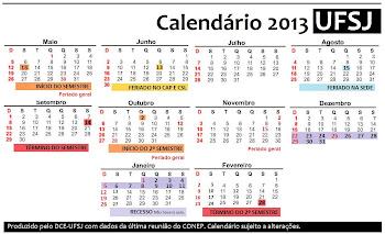 Novo Calendário Letivo: 2013.1