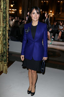 Salma Hayek attends Stella McCartney Spring / Summer 2013 Show
