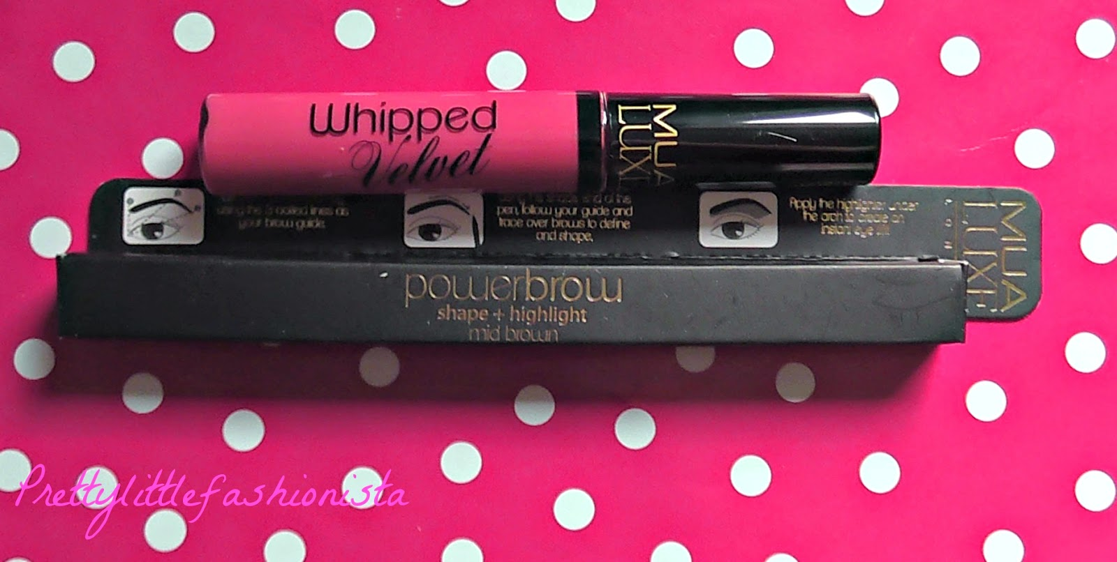 Power Brow and Whipped Velvet Lip Lacquer in Ritzy