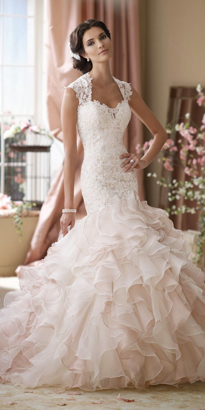 Beautiful bridal may 2009 ruffled mermaid gown for mon cheri bridals ombrellifo Choice Image