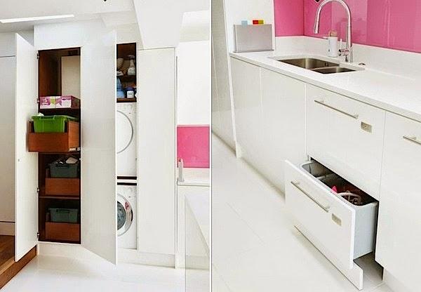 desain interior dapur warna pink desain properti indonesia