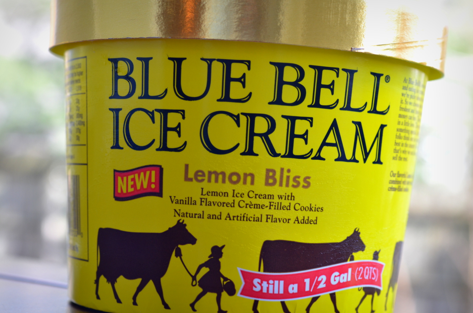 food and ice cream recipes REVIEW Blue Bell Lemon Bliss