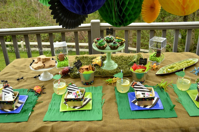 Bug Out Party bug theme party table 2