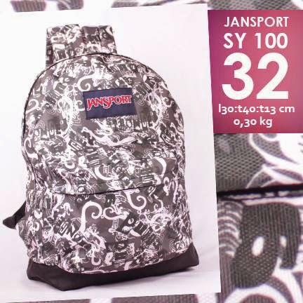 jual online tas jansport murah motif batik