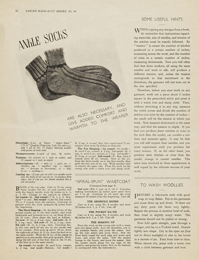 1940's Knitting - Ankle Socks