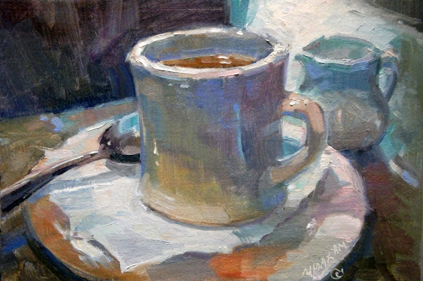 mary maxam paintings the perfect cup a morning coffee