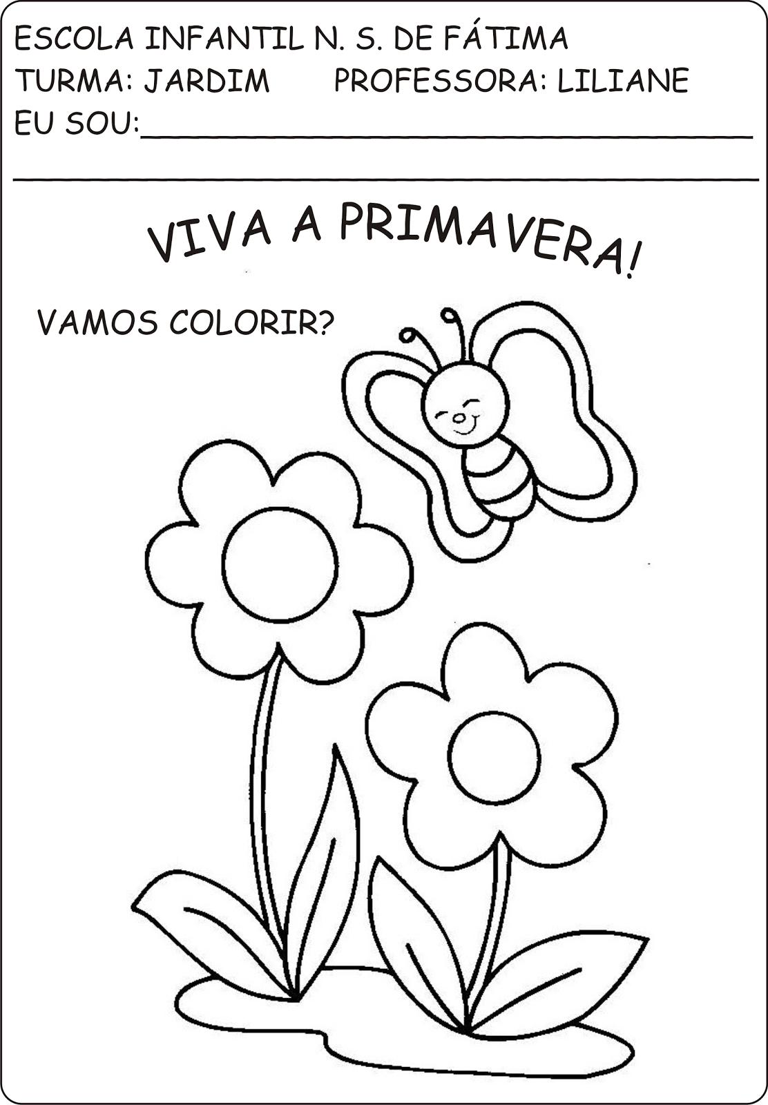Famosos Atividades primavera e plantas - A Arte de Ensinar e Aprender NI34