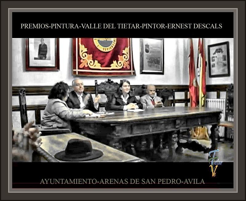 ARENAS DE SAN PEDRO-PINTURA-PREMIOS-AVILA-TIETAR-GREDOS-AYUNTAMIENTO-VEREDICTO-PINTOR-ERNEST DESCALS-