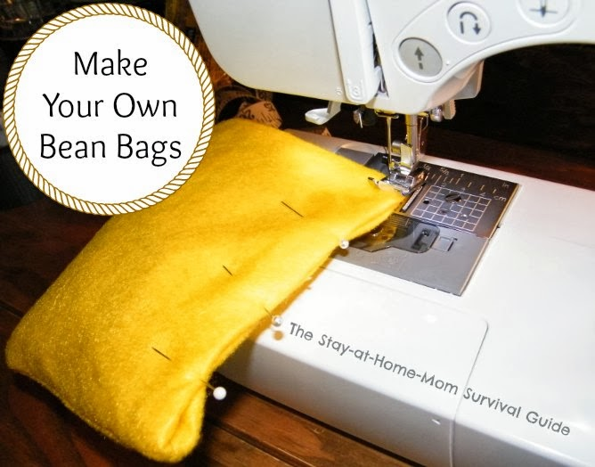 Make Your Own Bean Bags The Stay At Home Mom Survival Guide