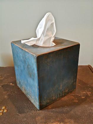 Hand Painted Kleenex Box Cover (paper mache)