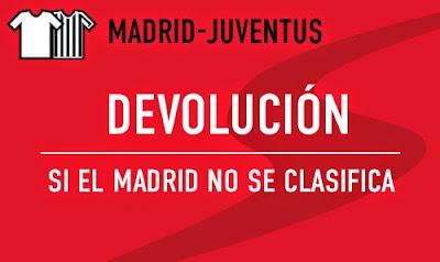 Sportium devolución 50€ Real Madrid vs Juventus – 13 mayo