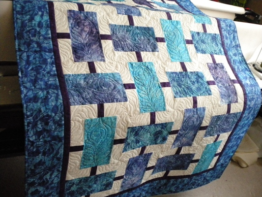 Vicki S Crafts And Quilting Blue And Purple Batik And A