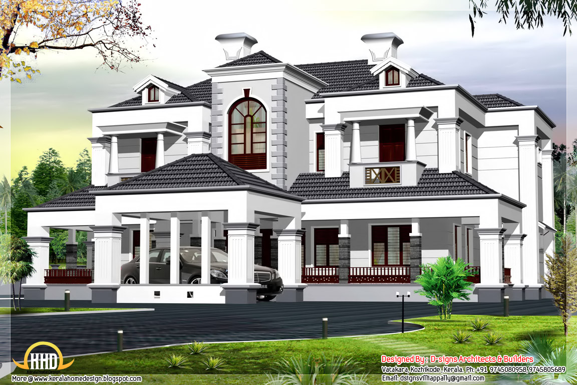 Victorian style 5 bhk home design indian house plans for Victorian style house