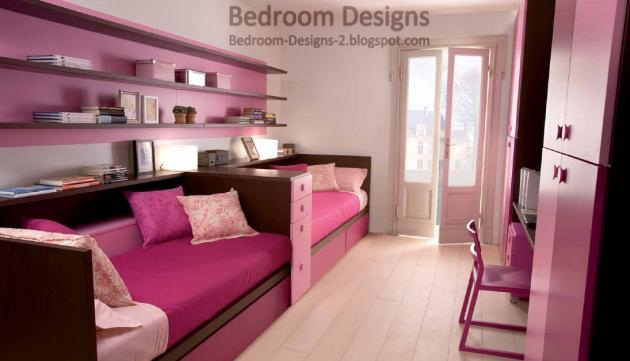 Modern Kids Bedroom Design With Modern Bedroom Furniture Pieces And Wooden  Shelves And Tallboys