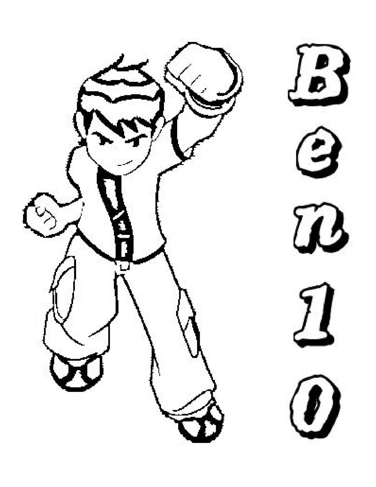 Free Coloring Pages Of Ben 10 Heatblast