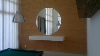 foto de espelho redondo para decoração
