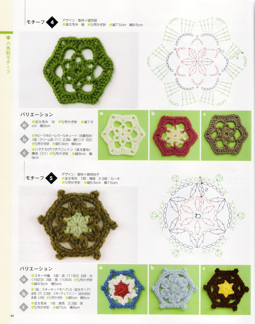 SOLO PUNTOS: crochet Hexágonos