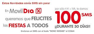 MóvilDia Bono 100 SMS