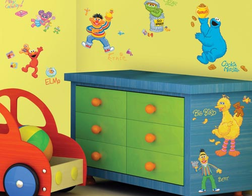 Good These bright and fun Sesame Street wall decals are as colorful as they are adorable and are the perfect decoration for any nursery or playroom