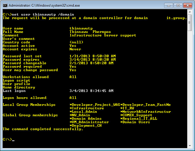 how to open admin tools via cmd