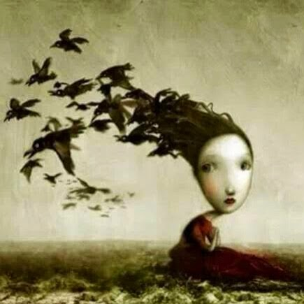 Me duele saberme pájaro en tu mano y pensarte anhelando el ciento volando.