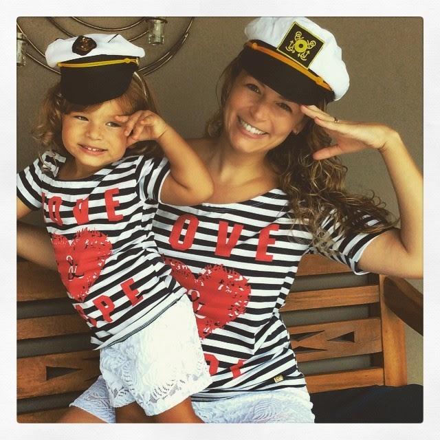 Bianca Castanho e a filha Cecília