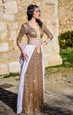 Robe de soirée style caftan