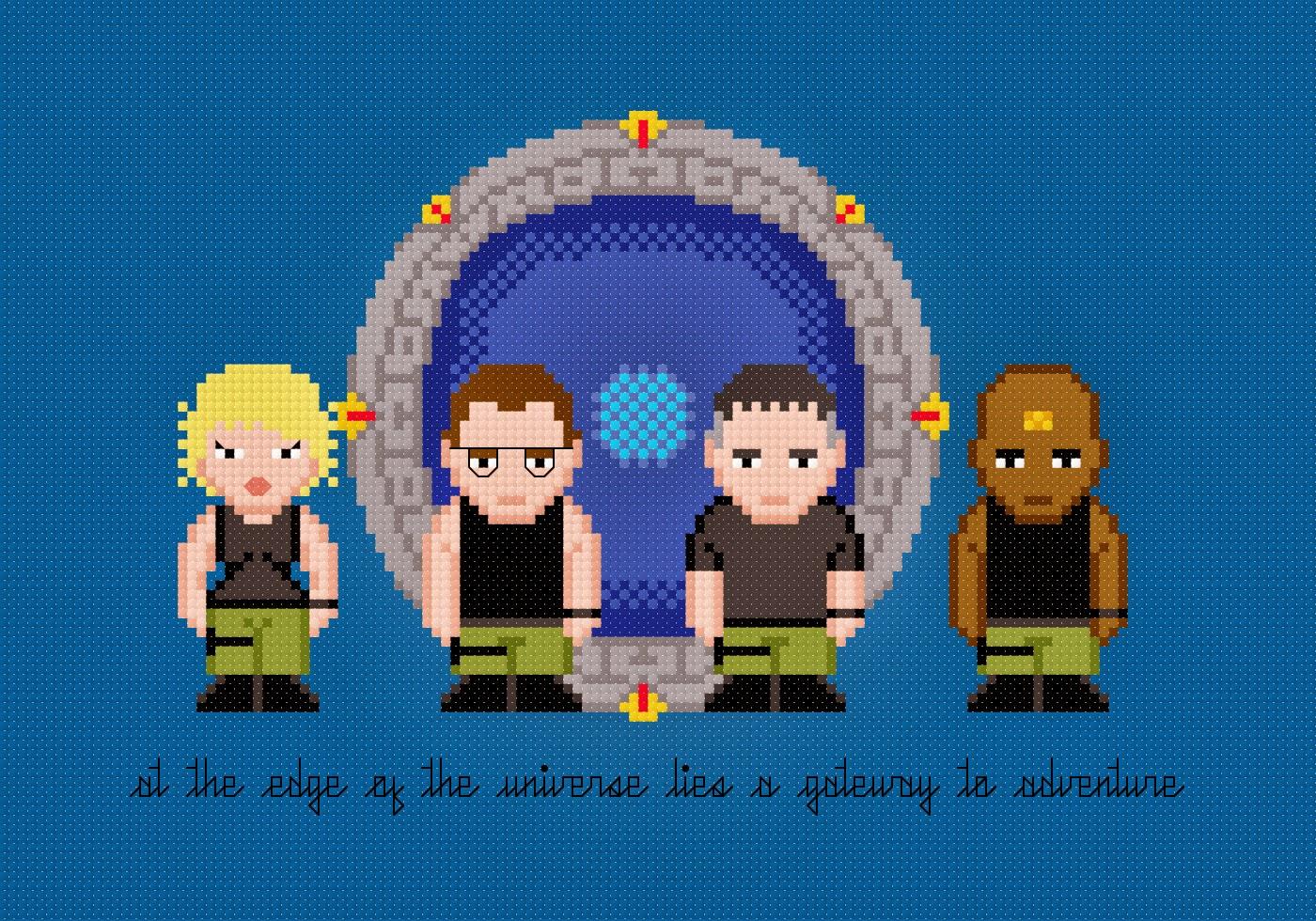Stargate SG-1 - Cross Stitch PDF Pattern Download