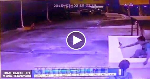VIDEO Rakaman CCTV Pelajar UniMAP Maut Jatuh Bagunan