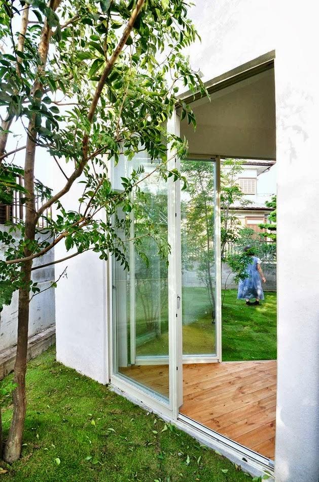 rumah unik dengan dinding kurva desain rumah modern