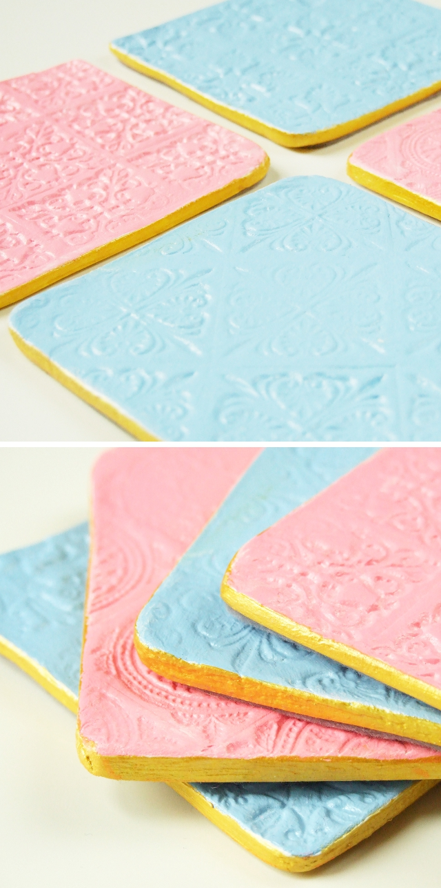 DIY STAMPED CLAY COASTERS. Gathering Beauty