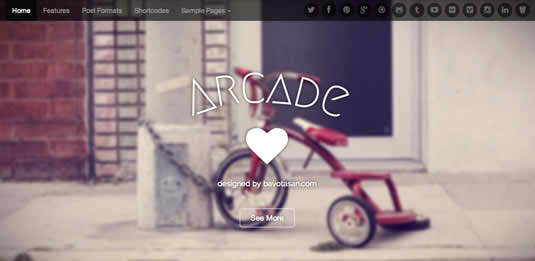 Arcade - free WordPress Theme