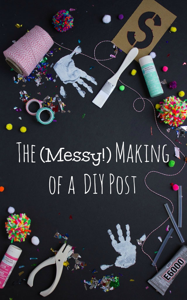 The (Messy!) Makings of a DIY Tutorial || Design Improvised blog