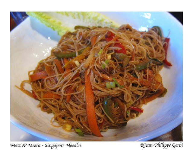 Image of Singapore Noodles at Matt and Meera in Hoboken, New Jersey NJ