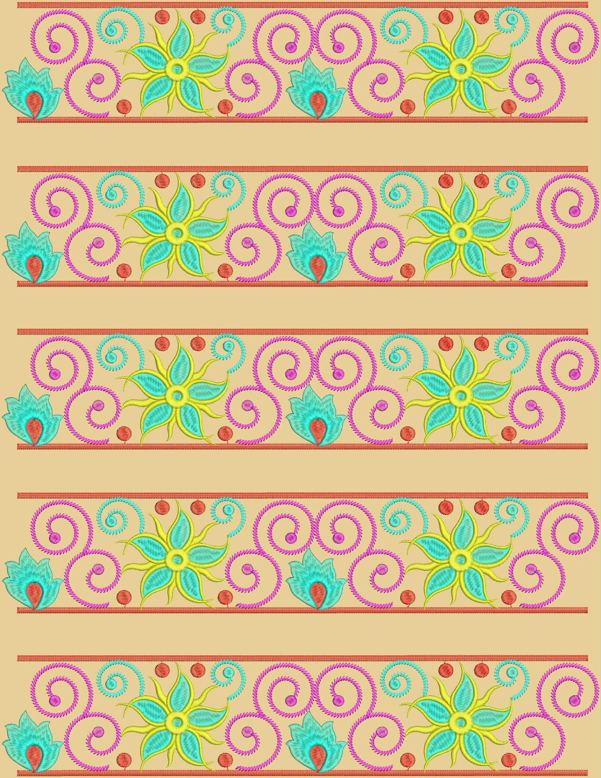 Indian Embroidery Border For Scarf  Embdesigntube
