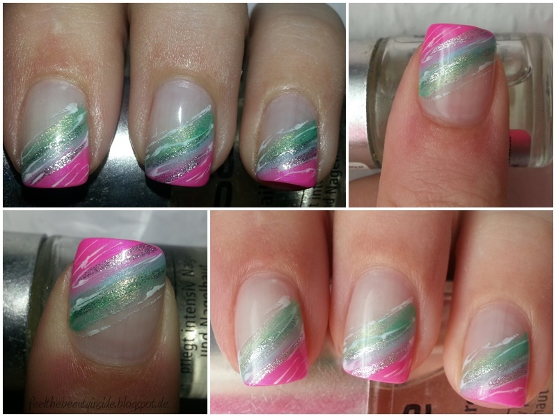 Feel the beauty inside nageldesign sommer pink blau gr n - Bilder fa r nageldesign ...