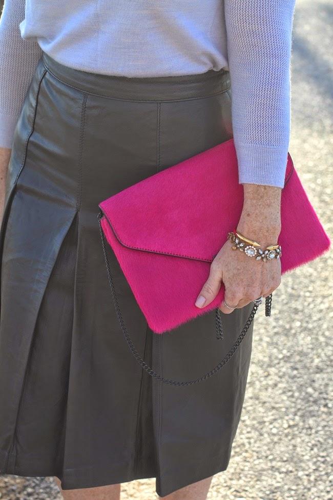 loeffler randal clutch, vita fede bracelet, dior nail polish