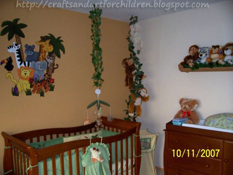 Craft Ideas Nursery on Crafts N Things For Children  Jungle Safari Nursery