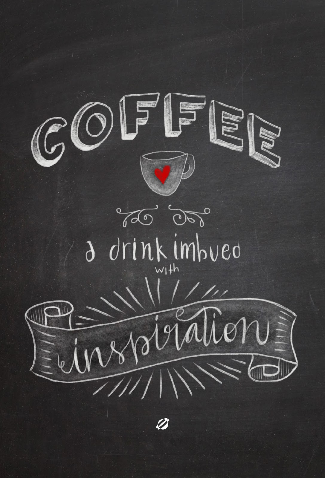 LostBumblebee ©2014 MDBN- Hand Lettered Coffee INBUED with Inspiration - FREE PRINTABLE- Personal Use only