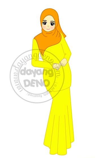 Tempahan : Doodle Berhijab Ala-Ala Model