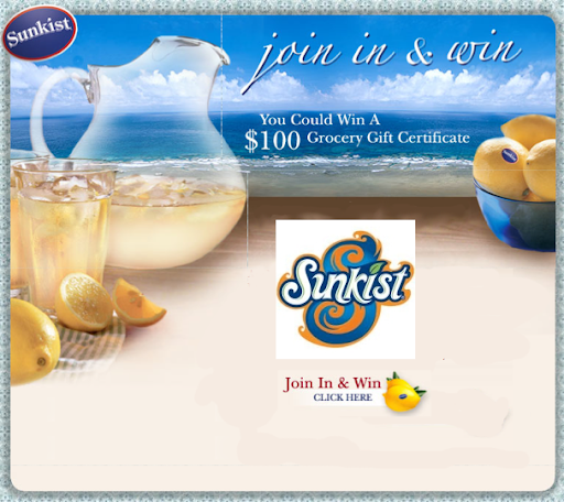 Sunkist Join In & Win Sweepstakes