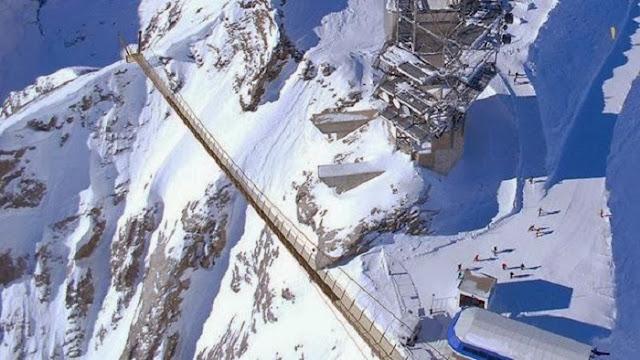 Don't Look Down! Walk Over Europe's Highest Suspension Bridge