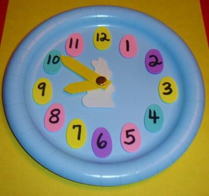 Bunny+clock.jpg & Learning Ideas - Grades K-8: Easter Paper Plate Analog Clock Craft ...