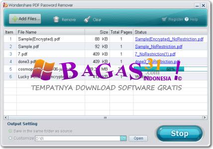 Wondershare PDF Password Remover 1.5.1 Full Keygen - BAGAS31.com