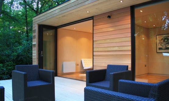 Modern eco friendly garden studio in london home design for Garden studio interiors