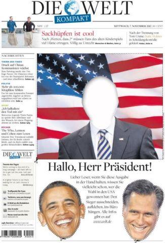 Die Welt Hallo Herr Präsident Titelblatt